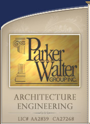 Parker Walter Group Architectural Planning and logo